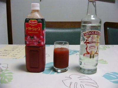 トマトジュースとウォッカ