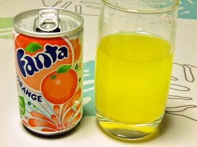 本物のファンタオレンジ